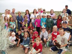 Badger Mountain 2nd grade loving Amon Basin