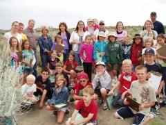Badger Mountain 2nd grade loving Amon Basin